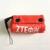 供应中兴手机活动促销袋子 翻盖搭扣式可折叠手提礼品袋 牛津210材质
