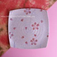 日本进口瓷盘 有古窑日式料理陶瓷餐具和风寿司盘樱花盘子方盘