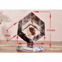 厂家特价水晶魔方旋转立方体DIY定制照片影像制作生日礼物摆件