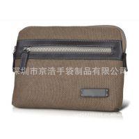 优质时尚全棉帆布配PU男士手包  手拿包  商务手包  KB24520
