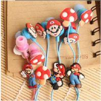 批发 超级玛丽SuperMario 可爱 经典游戏 入耳式 3.5mm 卡通耳机