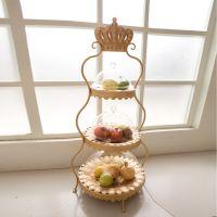 欧式蛋糕架 水果盘 铁艺蛋糕架 三层蛋糕架 多层水果盘 新款批发