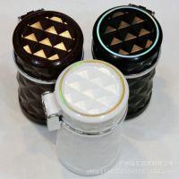 钻石切面汽车烟灰缸 车载烟灰缸带led灯 车用烟灰缸 太阳能