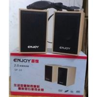 供应喜悦-10多媒华USB木质迷你音箱 笔记本2.0桌面小音响小对箱 正品