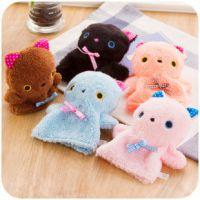 B760 可爱猫咪迷你暖手宝 便携式小热水袋 可拆洗毛绒暖手袋