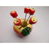 创意餐具水果叉 苹果餐具套装 树脂水果叉