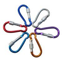 螺丝帽固定扣设计 钥匙扣登山扣安全扣 带锁登山扣56g