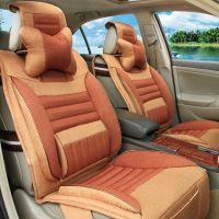 供应夏季汽车空调坐垫亚麻汽车座垫北京现代瑞纳汽车座套布套HC0070