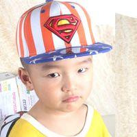 韩国supreme官网帽子 星星印刷超人S帽子 宝宝小孩家庭亲子帽子