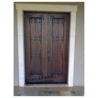 辛乙堂木业荣誉出品高端系列实木车库门、实木入户门、实木木饰面、遥控庭院门