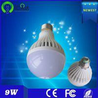 爆款 LED塑料阻燃外壳灯泡 超亮 E27螺口节能灯泡 球泡9W 超值