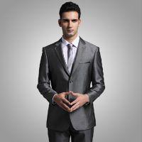 新款西服套装男士商务小西装新郎结婚礼服韩版修身正装灰色