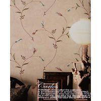 pvc田园风格墙纸 卧室墙纸 温馨浪漫适应家装 会所等装饰工程