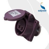 供应SP-616低压防水暗装直插座 2孔32A低压插座 铜接触件低压插座