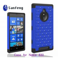 外贸出口手机保护套 Nokia n830硅胶+pc点钻手机壳 三合一手机套