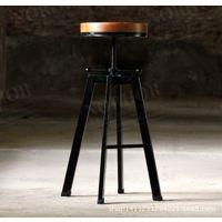 美式乡村做旧复古餐椅铁艺沙发椅子時尚休闲咖啡店椅