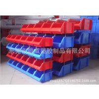 厂家供应河南郑州PP塑料零件盒 斜口塑胶零件盒 插住零件盒