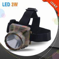 LED充电强光锂电池头灯 钓鱼 露营头灯 野营照明灯 JGR-301迷彩