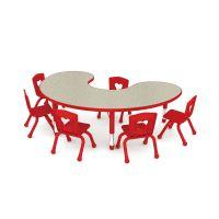 波特月亮U型桌可升降 幼儿园桌 儿童学习小书桌 HJL-0226