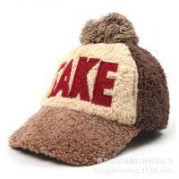 2015春季新款韩版潮人TAKE毛绒鸭舌帽春春季季帽子百搭帅气女帽