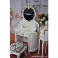 厂家供应法式家具 法式梳妆台 实木化妆台 高档象牙白妆台