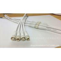 厂家供应3*0.5平方LED防水插头连接线连接器对接白色认证UL红黑黄