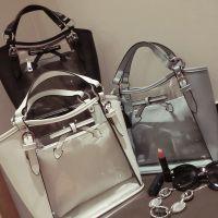 2015夏季新款女韩版 时尚透明包包水晶包手提斜挎包包子母包包包