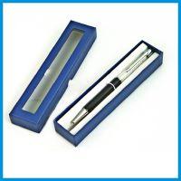 新款天地盖笔盒 透明pvc片天窗盒 宝蓝色文具盒 纸盒子批发