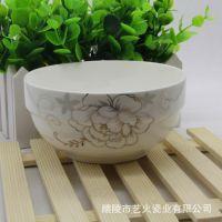 厂家批发冰清玉洁金花陶瓷餐具套装礼品陶瓷碗套装新韩式护边碗