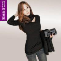 2013秋装 新款女装韩版NF3820百搭性感纯棉高领长袖T恤打底衫