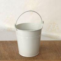 装饰白色小铁桶 迷你铁桶 装饰花盆 婚礼派对装饰用品/工具花盆