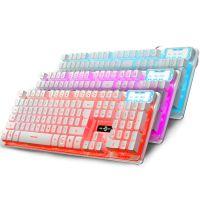 K13有线背光游戏键盘/键帽缝隙发光/机械式悬浮/3色发光带呼吸灯