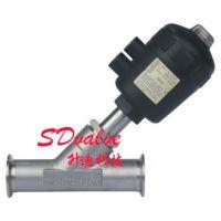 供应供应不锈钢304 316L材质快装气动角座阀
