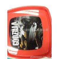 【2014款】PP儿童饭盒盖热转印 塑料饭盒盖热转印加工定制