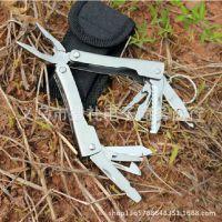 不锈钢多功能工具钳子 户外多用途折叠不锈钢刀钳   手动钳子