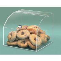 供应商场专用亚克力面包展示盒 透明塑料食品盒 超市散货盒