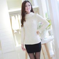 2014冬季加绒高领蕾丝衫修身打底衫镂空长袖t恤爆款加厚优质版