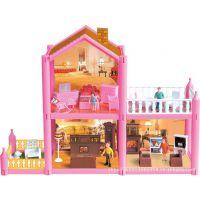 粉红别墅双层塑料玩具娃娃过家家的玩具