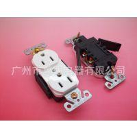 美式双联插座NEMA5-15A 儿童保护插座,医疗设备机器电源插座