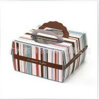【热销】彩色条纹手提式蛋糕盒、甜品盒,各式优质蛋糕包装盒纸盒