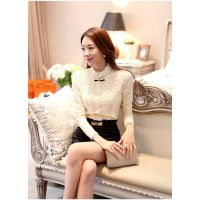2014秋装新款韩版女装修身蕾丝修身蕾丝衫女长袖打底衫女