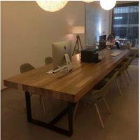 美式乡村铁艺实木桌椅办公桌 餐桌时尚简约复古桌子特价厂家批发