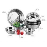 厂家直销 不锈钢无磁加厚汤盆 装汤盆 家用盆