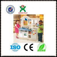 广州厂家直销QX-162G 室内儿童仿真双面厨房 过家家配套设备