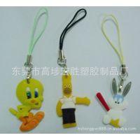 PVC手机吊饰,塑胶公仔挂件,动物手机饰品