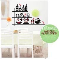 餐具厨房用具瓶瓶罐罐三代可移墙贴 环保时尚个性餐厅 LC7011
