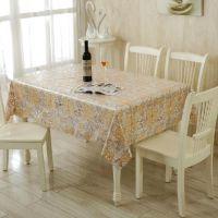 欧式高档桌面垫布 PVC防水台布 易清洁桌布8276