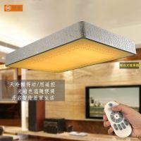 供应新款led长方形客厅大厅灯 卧室书房铁艺简约遥控调光室内灯具