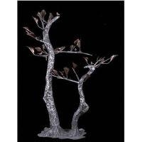 抽象铁艺装饰品 植物雕塑艺术品 金属摆件 迎客树 酒店配饰