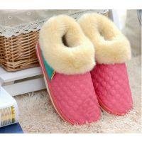 PU皮质包跟棉鞋冬季情侣棉拖鞋室内外防水保暖棉拖家居拖鞋批发
